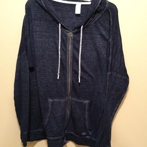 Navy lightweight hooded sweatshirt